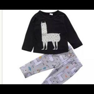 Other - Llama Pajama Set with Hat- Llama PJ Set- Llama PJs
